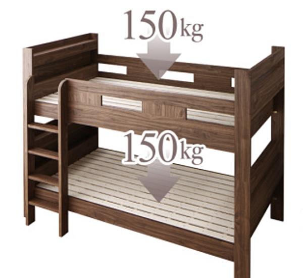耐荷重の大きい2段ベッド
