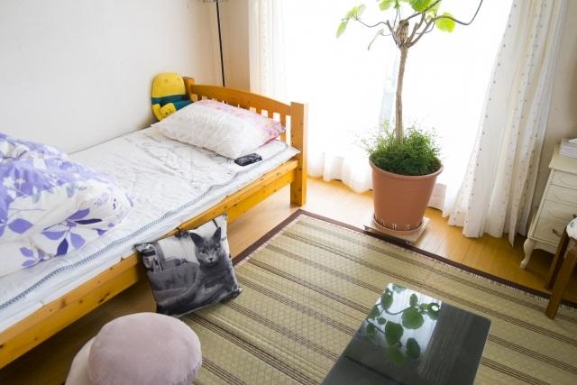 ベッドに布団