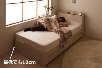 ベッド壁際