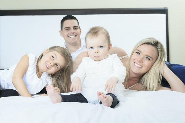 4人家族のベッド